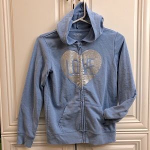 🌟 2/20 Children's Place light blue girls hoodie
